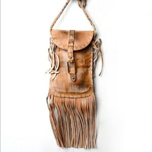 Bed Stu Sandy Lane Leather Fringe Bag Purse